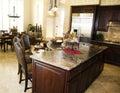 Large beautiful kitchen Royalty Free Stock Photo