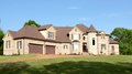 Large beautiful residential mansion home a very and in bartlett tn Royalty Free Stock Photography