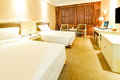 Large bed room nanchang hotel rooms Royalty Free Stock Photos