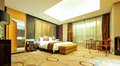 Large bedroom four star hotel bedrooms in nanchang Royalty Free Stock Photos