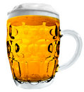 Large Beer Mug isolated Royalty Free Stock Photos
