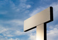 Large blank billboard totem with degrade empty space Stock Photo