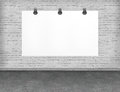 Large blank empty white billboard screen for your advertisment and design Stock Photos