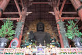 The large buddha inside the daibutsuden in todai ji temple nara japan Stock Images