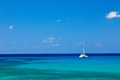 Large catamaran sailing grand cayman cayman islands Royalty Free Stock Photo