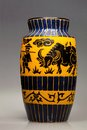Large Ceramic Vase With Animal...