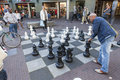 Large chess game on the streets of Amsterdam Royalty Free Stock Photo
