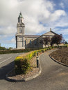 Large church in ireland irish with cross and steeple Royalty Free Stock Images