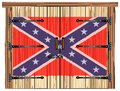 Closed Barn Door With Confederate Flag Royalty Free Stock Photo