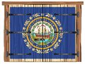 Closed Barn Door With New Hampshire State Flag Royalty Free Stock Photo