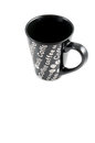 Large coffee mug a black ceramic empty with white background Royalty Free Stock Images