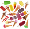 Large collection of ice cream and lollies Royalty Free Stock Photo