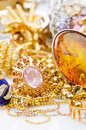 Large collection of  jewellery Stock Image