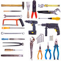 Large Collection Of Used Tools Royalty Free Stock Photos