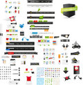 Large collection of web graphics and icons Stock Images