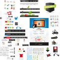 Large collection of web graphics and icons Stock Image