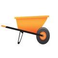 Large construction wheelbarrow