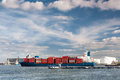 Container ship in Antwerp port Royalty Free Stock Photo