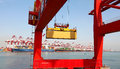 Large Container Terminal Royalty Free Stock Photos