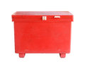 Large cooler box with clipping path isolated on white background Stock Photo
