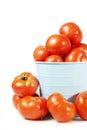 Large crop of fresh ripe tomatos isolated on white Royalty Free Stock Photo