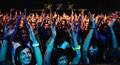 A large crowd of teenagers fans of simple plan band screams at razzmatazz barcelona spain march on march in barcelona spain Stock Photo