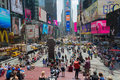 Large crowd at Times Square, New York Royalty Free Stock Photo