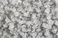 Large crystals of sodium chloride macro Royalty Free Stock Photo