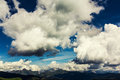 Large cumulonimbus clouds over the haute savoie region in france Stock Image