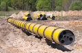 Large diametr gas pipeline Royalty Free Stock Photography