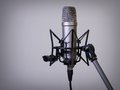 Large diaphragm microphone photo of a studio on a mic stand Royalty Free Stock Photography