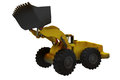 Large digger side view from used at construction sites or mines Royalty Free Stock Images