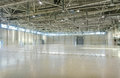 Large empty space in hangar Royalty Free Stock Photo