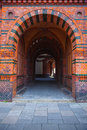 A large entry way in a Hamburg building Royalty Free Stock Photo