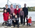 Large Family By Lake Royalty Free Stock Photo