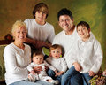 Large Family with Sons Royalty Free Stock Photo