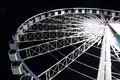 Large ferris wheel in night time 2 Royalty Free Stock Photo