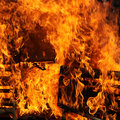 Large fire - square Stock Photography