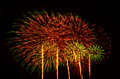 A large fireworks display event rataya in thailand Royalty Free Stock Photo