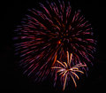 A large fireworks display event rataya in thailand Stock Photo