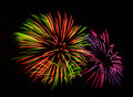 A large fireworks display event rataya in thailand Stock Image