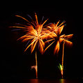 A large fireworks display event rataya in thailand Royalty Free Stock Photography