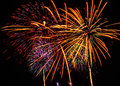A large fireworks display event rataya in thailand Royalty Free Stock Images