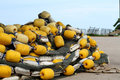 Large float for trawl placed on the ground Royalty Free Stock Image