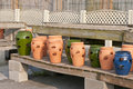 Large flower or plant pots Stock Photo