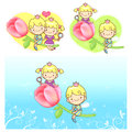 Large Flower in prince and princess. A couple of Love Character Stock Photos