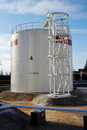 Large fuel tank at oil storage an Royalty Free Stock Images