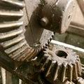 Large gear wheel mechanism, cogwheels in style steampunk Royalty Free Stock Photo