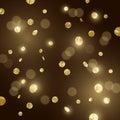 Large Gold glitter Confetti Royalty Free Stock Photo