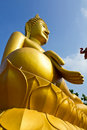 Large golden Buddha Stock Image